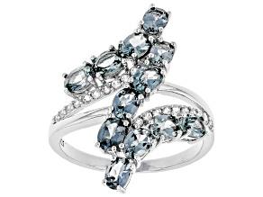 Platinum Color Spinel Rhodium Over Silver Ring 2.16 ctw