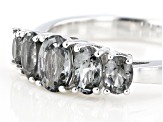 Gray Spinel Rhodium Over Silver Band Ring 1.08ctw