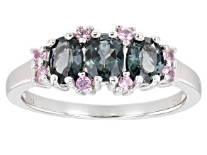 Platinum Color Spinel Rhodium Over Silver Ring 1.07ctw