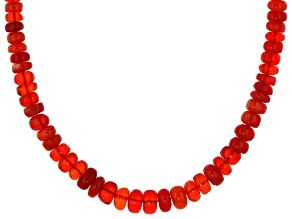 Red Opal Rhodium Over Sterling Silver Necklace