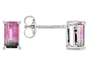 Bi-Color Tourmaline Sterling Silver Earrings 1.10ctw