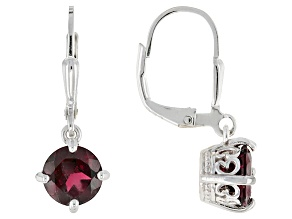 Purple Rhodolite Sterling Silver Dangle Earrings 2.61ctw