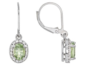 Green Amblygonite Sterling Silver Earrings 1.62ctw
