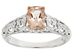 Pink Morganite Sterling Silver Ring .71ctw