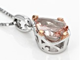 Pink Morganite Sterling Silver Solitaire Pendant With Chain 1.44ct