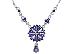 Blue Iolite Sterling Silver Necklace 2.27ctw