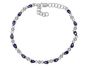 Blue Iolite Sterling Silver Bracelet 1.89ctw