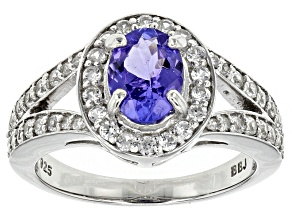 Blue Tanzanite Sterling Silver Ring 1.80ctw