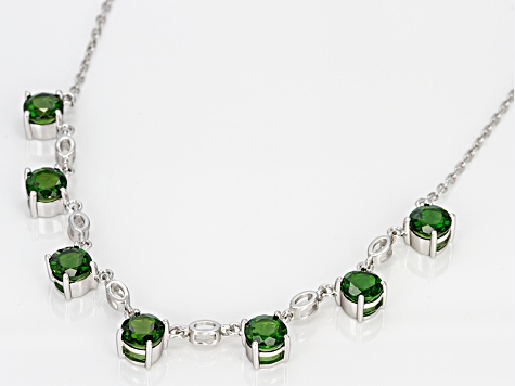 Green Russian Chrome Diopside Sterling Silver Necklace 4.90ctw