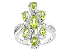 Green Peridot Sterling Silver Ring 2.01ctw