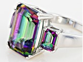 Multicolor Quartz Sterling Silver Ring 7.06ctw