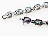 Multicolor Quartz Rhodium Over Sterling Silver Bracelet 40.07ctw