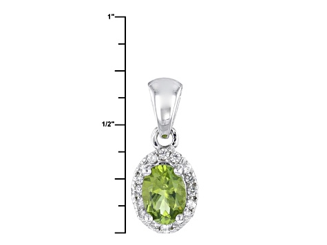 Green Arizona Peridot Sterling Silver Pendant With Chain .82ctw