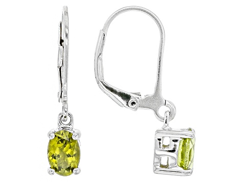 Green Peridot Sterling Silver Earrings 1.07ctw