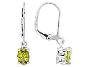 Green Peridot Sterling Silver Earrings 1.07ctw