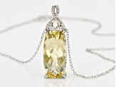 Yellow Labradorite Sterling Silver Pendant With Chain 7.65ctw