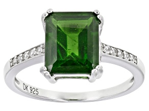Green Chrome Diopside Sterling Silver Ring 3.15ctw