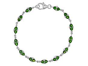 Green Chrome Diopside Sterling Silver Bracelet 4.08ctw