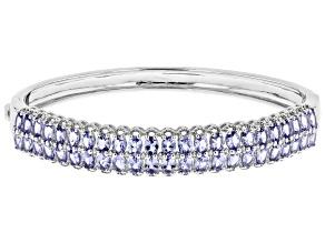 Blue Tanzanite Sterling Silver Bracelet 6.08ctw
