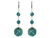 Blue Turquoise Sterling Silver Earrings