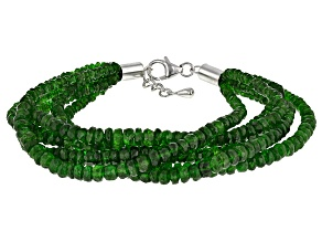 Green Chrome Diopside Sterling Silver Bracelet 127.00ctw