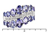 Blue Tanzanite Sterling Silver Ring 3.02ctw