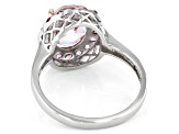 Pink Kunzite Rhodium Over Sterling Silver Ring 3.28ctw