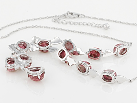 Pink Thulite Sterling Silver Necklace