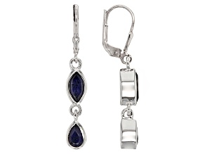 Blue Iolite Sterling Silver Earrings 1.82ctw