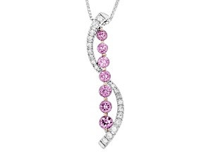 Pink Garnet Sterling Silver Pendant With Chain 1.03ctw