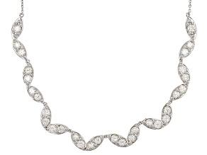 White Fabulite Strontium Titanate Sterling Silver Necklace 12.75ctw