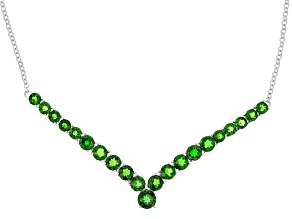 Green Chrome Diopside Sterling Silver Necklace 9.54ctw