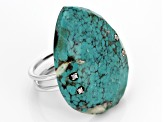 Blue Turquoise Sterling Silver Ring .11ctw