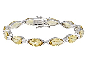 Brown Champagne Quartz Sterling Silver Bracelet 27.50ctw