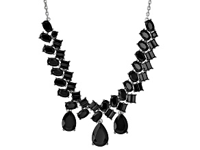 Black Spinel Sterling Silver Necklace 21.33ctw