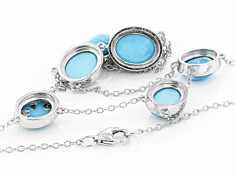 Blue Sleeping Beauty Turquoise Sterling Silver Necklace