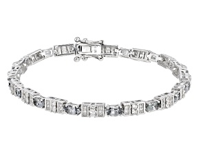 Gray Titanium Color Spinel Sterling Silver Bracelet 4.90ctw