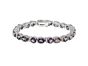 Multicolor Mystic Topaz® Rhodium Over Sterling Silver Bracelet 32.30ctw