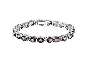 Multicolor Mystic Topaz® Sterling Silver Bracelet 32.30ctw