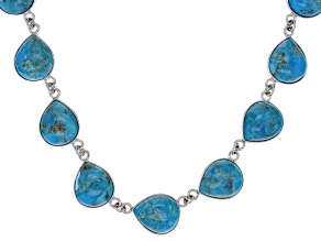 Blue Turquoise Sterling Silver Sterling Silver Necklace