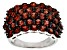 Red Garnet Sterling Silver Band Ring 4.97ctw