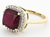 Mahaleo Ruby 10k Yellow Gold Ring 3.60ctw.