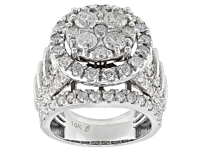 Diamond 10k White Gold Ring 4.5ctw