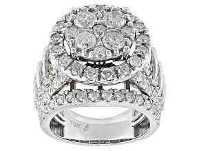 Diamond 10k White Gold Ring 4.5ctw