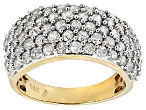 Diamond 10k Yellow Gold Ring 2.04ctw