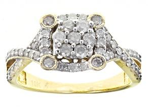 Diamond 10k Yellow Gold Ring .75ctw