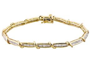 Diamond 10k Yellow Gold Bracelet 1.75ctw