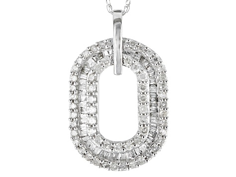 Diamond 10k White Gold Pendant .50ctw