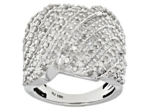Diamond 10k White Gold Ring 2.90ctw