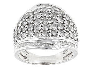 Diamond 10k White Gold Ring 2.50ctw